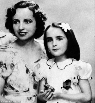 Sara Taylor and her daughter, Elizabeth, 1937