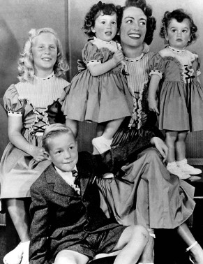 Joan Crawford and her adopted children