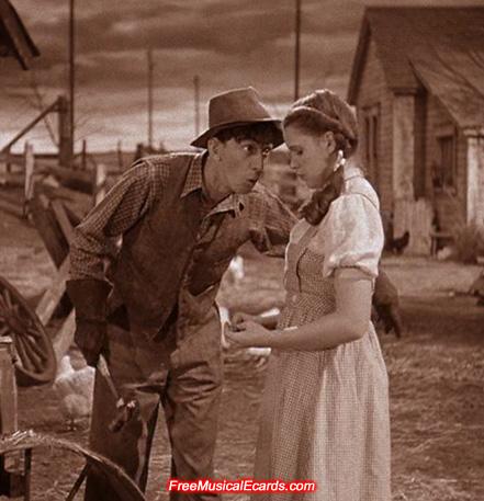 Ray Bolger & Judy Garland